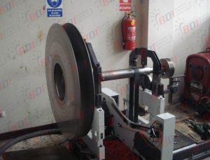 Balanceo de conjunto ventilador, eje y polea