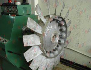Cambio de aletas a ventilador axial para minería