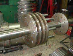 Fabricación de eje para rotor de molino