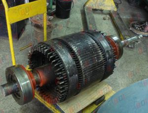 Reparación de eje de rotor 500 kw