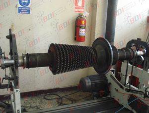 Balanceo de rotor para turbina de vapor