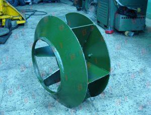 Fabricación de ventiladores en Plancha negra
