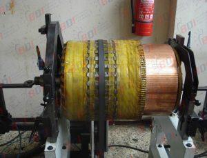 Balanceo de rotor para locomotora