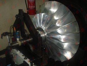 Rotor de turbo 17000 rpm