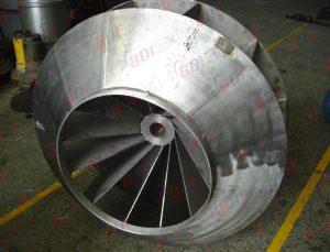 Fabricación de Ventilador centrífugo en acero inox 304