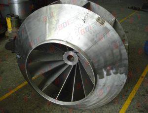 Fabricación de ventilador centrífugo en acero inoxidable
