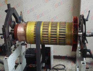 Balanceo de rotor de motor eléctrico de 360 kw