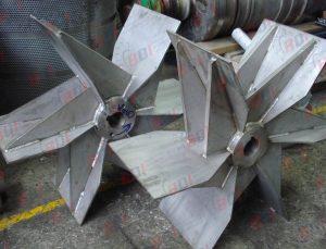 Fabricación de impulsores en acero inox 304
