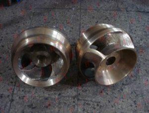 Maquinado de impulsores de bronce