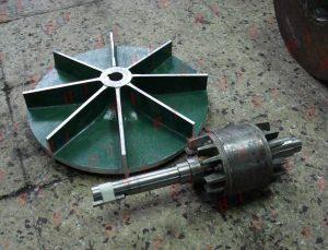 Balanceo de Rotor de motor de 5 hp