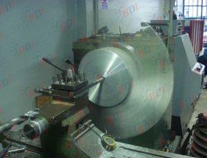 Maquinado de ventilador axial de aluminio